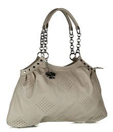 Butterflies Beige P.U. Shoulder Bag