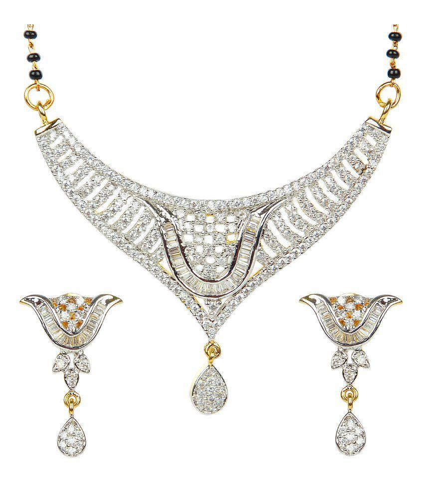 Impact Gold Plated American Diamonds Studded MangalSutra Set