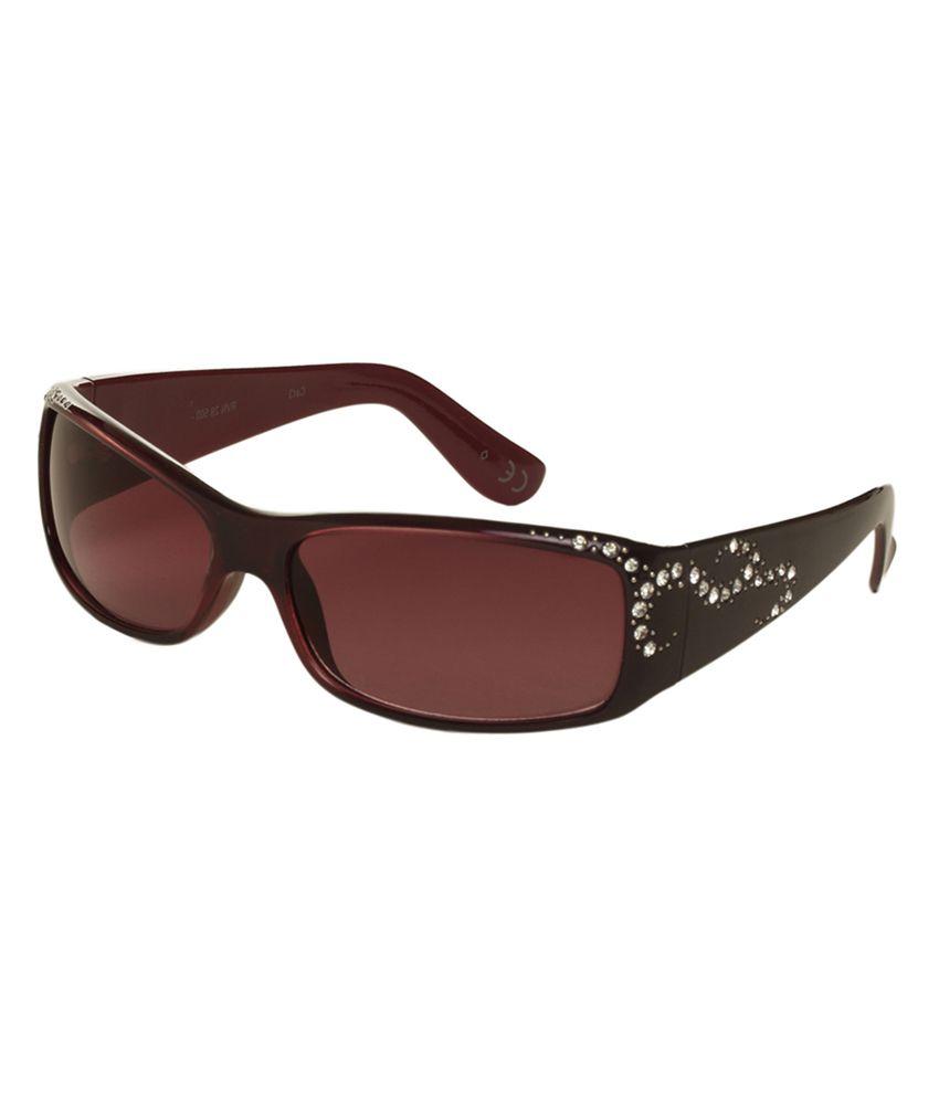 Revlon Brown and Purple Rectangle Sunglasses