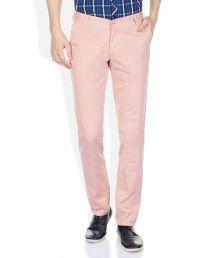 John Players PeachPuff Slim Fit Trousers