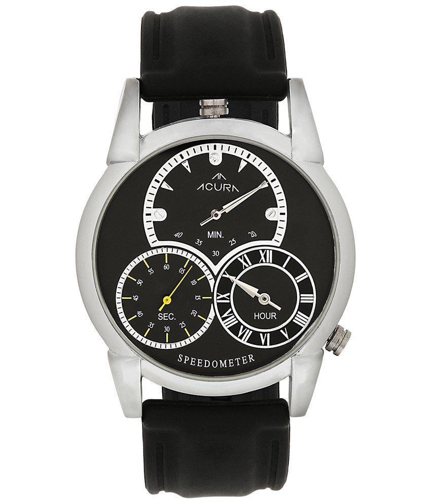 Acura Black Silicon Wrist Watch