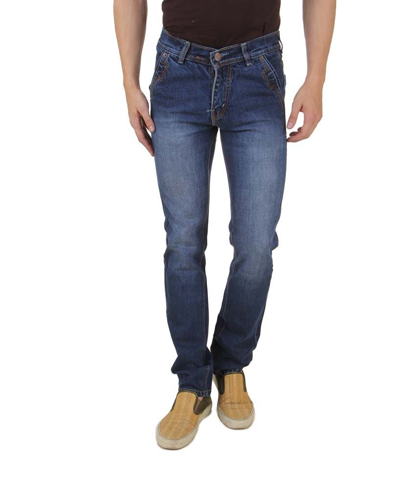 Group Collections Blue Cotton Blend Men Jeans