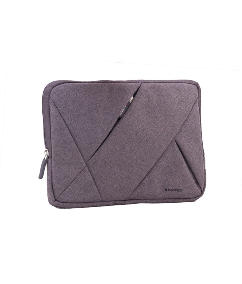 Neopack Canvas Sleeves for 15.6 inch Laptop (Grey)