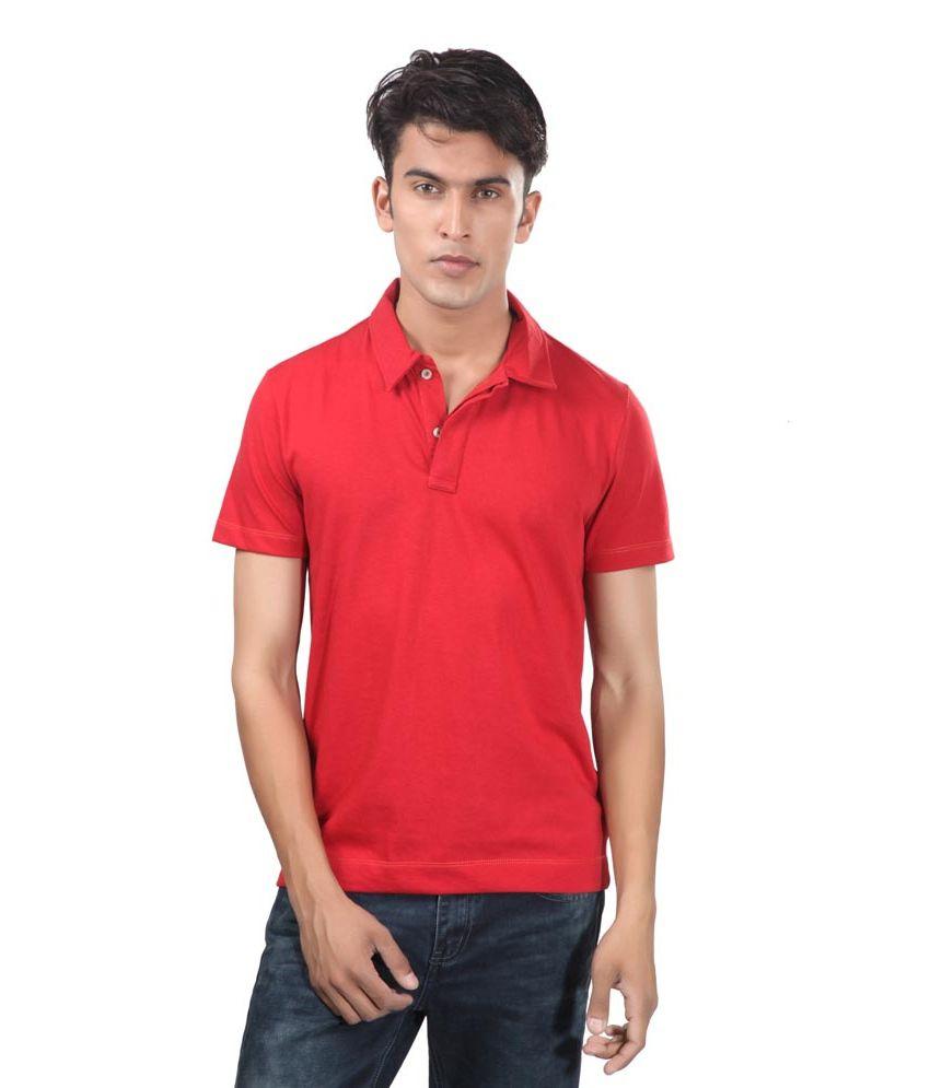Uni Style Image Red Cotton T-Shirt