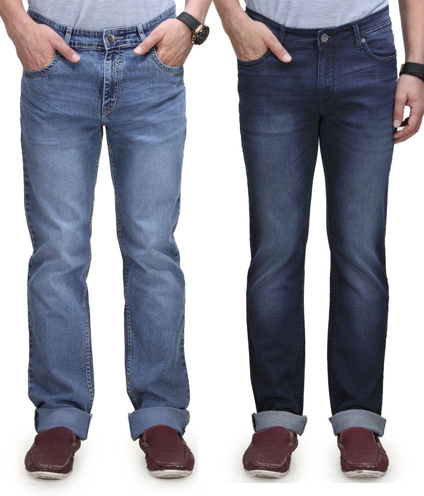Vintage Blue Jeanswear Cotton Regular Fit Jeans