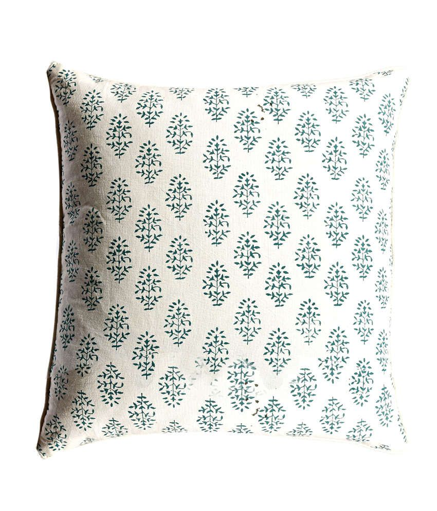 Aapno Rajasthan White Printed Cotton Cushion Covers