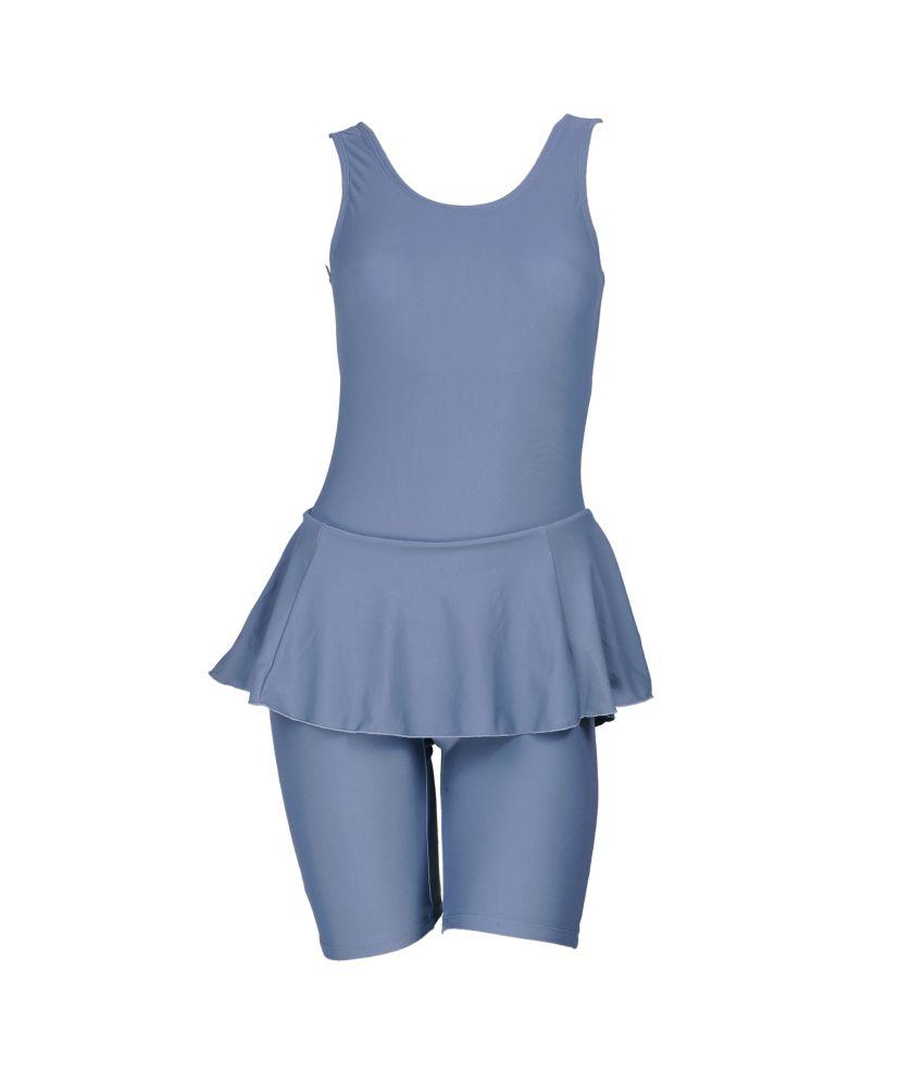 Champ Womens Swimwear Frock With Pad Provision Plain/ Swimming Costume