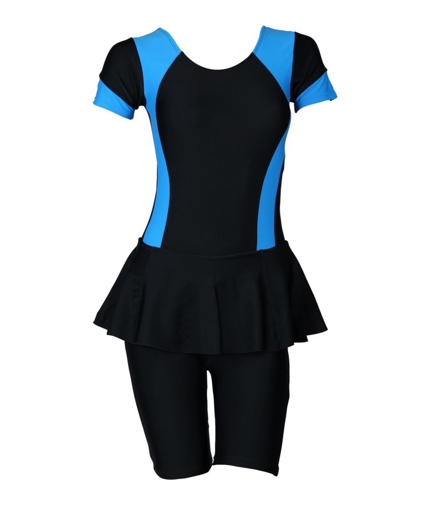 Freestyle Womens Swimwear Frock With Half Legsuit With Pad Pad Provision/ Swimming Costume