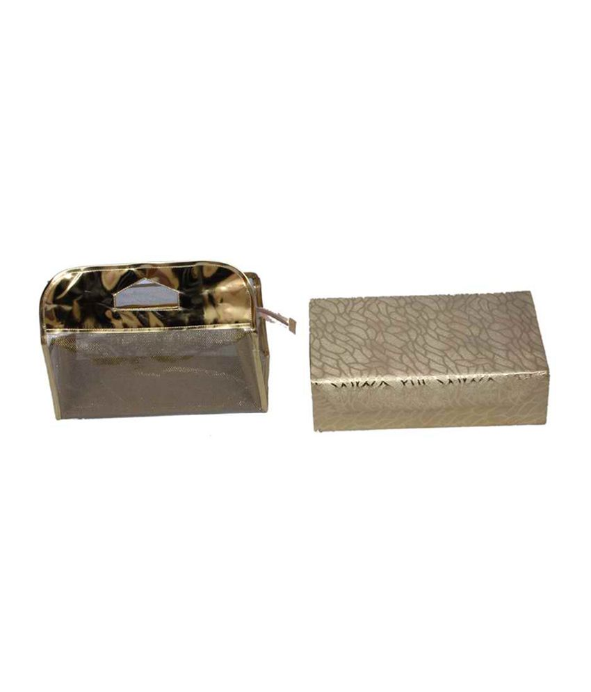 Kuber Industries Golden Bangle Box 2 Rod & Vanity Box - Combo Of 2