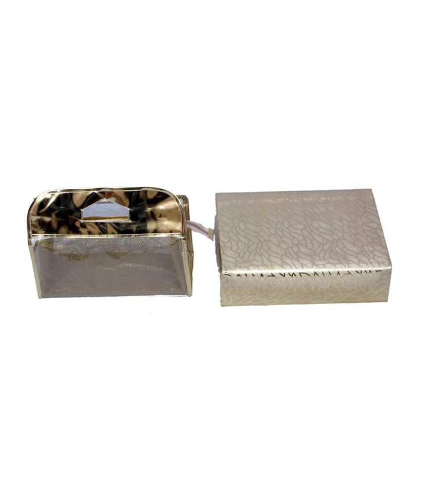 Kuber Industries Golden Bangle Box 3 Rod & Vanity Box - Combo Of 2