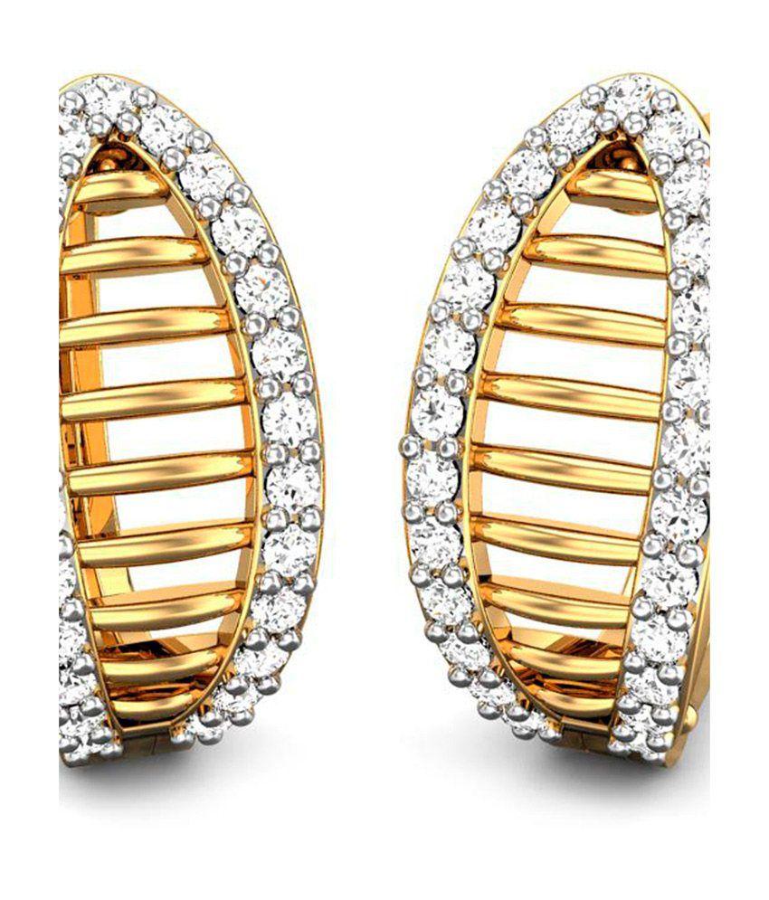 Candere Lovisa Diamond Earrings Yellow Gold 18K