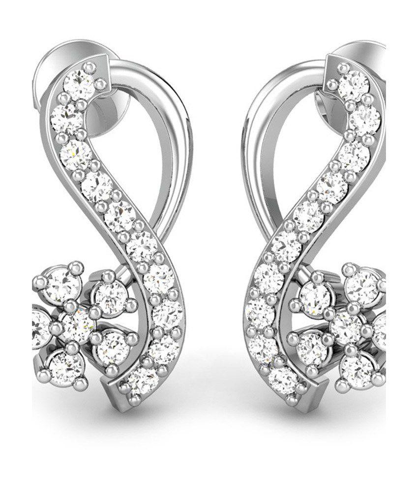 Candere Kanchan Diamond Earrings White Gold 18K