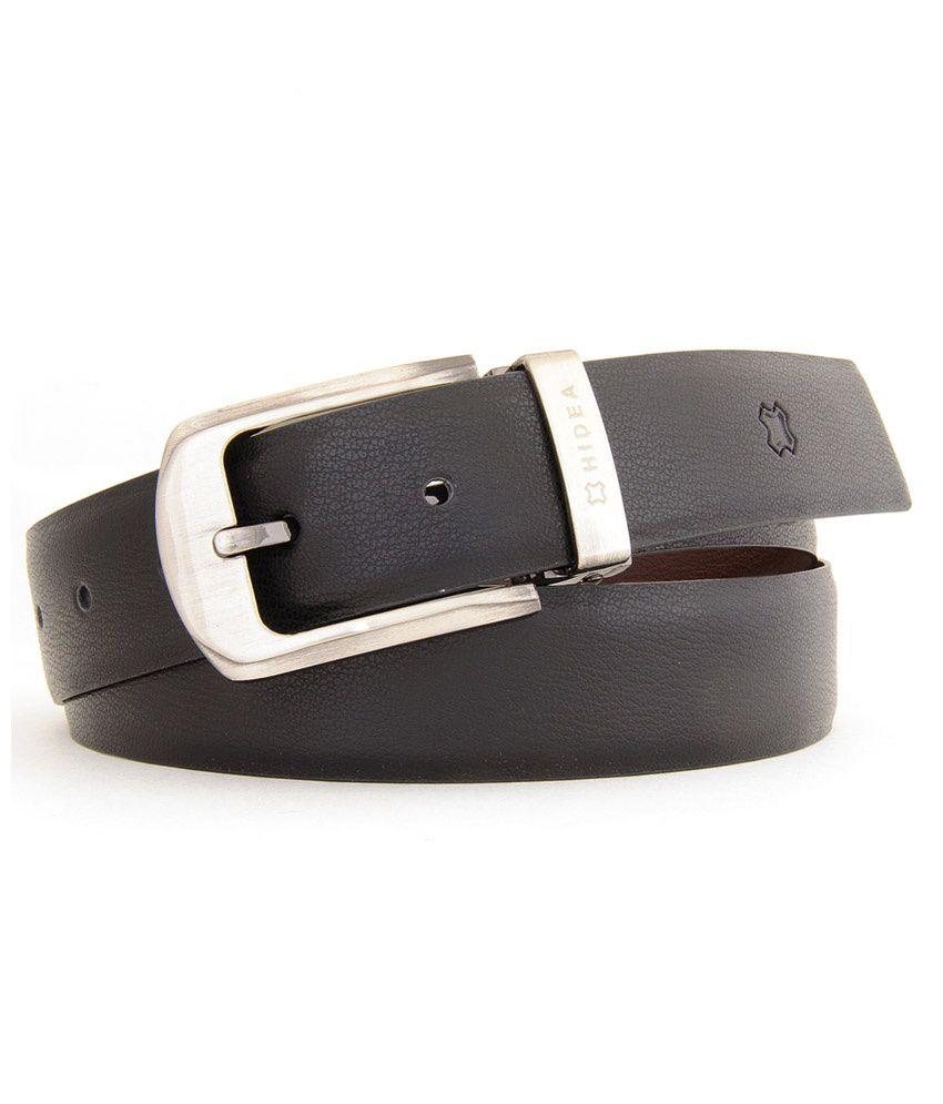 Hidea Black And Brown Formal Reversible Belt For Men