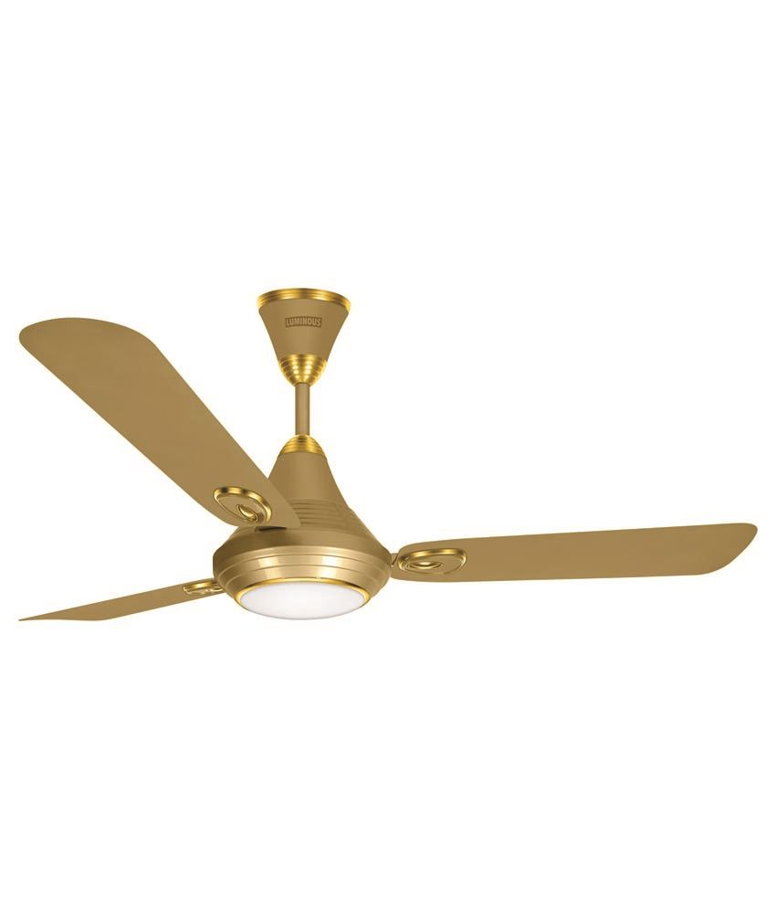 Luminous 1200 Mm Lumaire Underlight Ceiling Fan Silky Gold