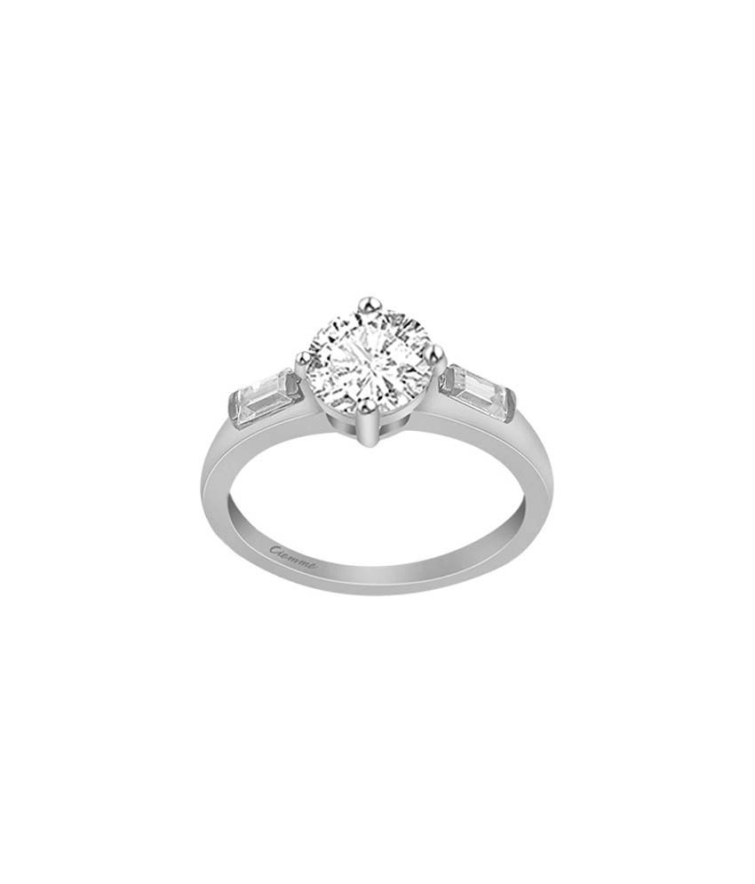 Ciemme 92.5 Sterling Silver 0.50 Ct CZ Solitare Ring