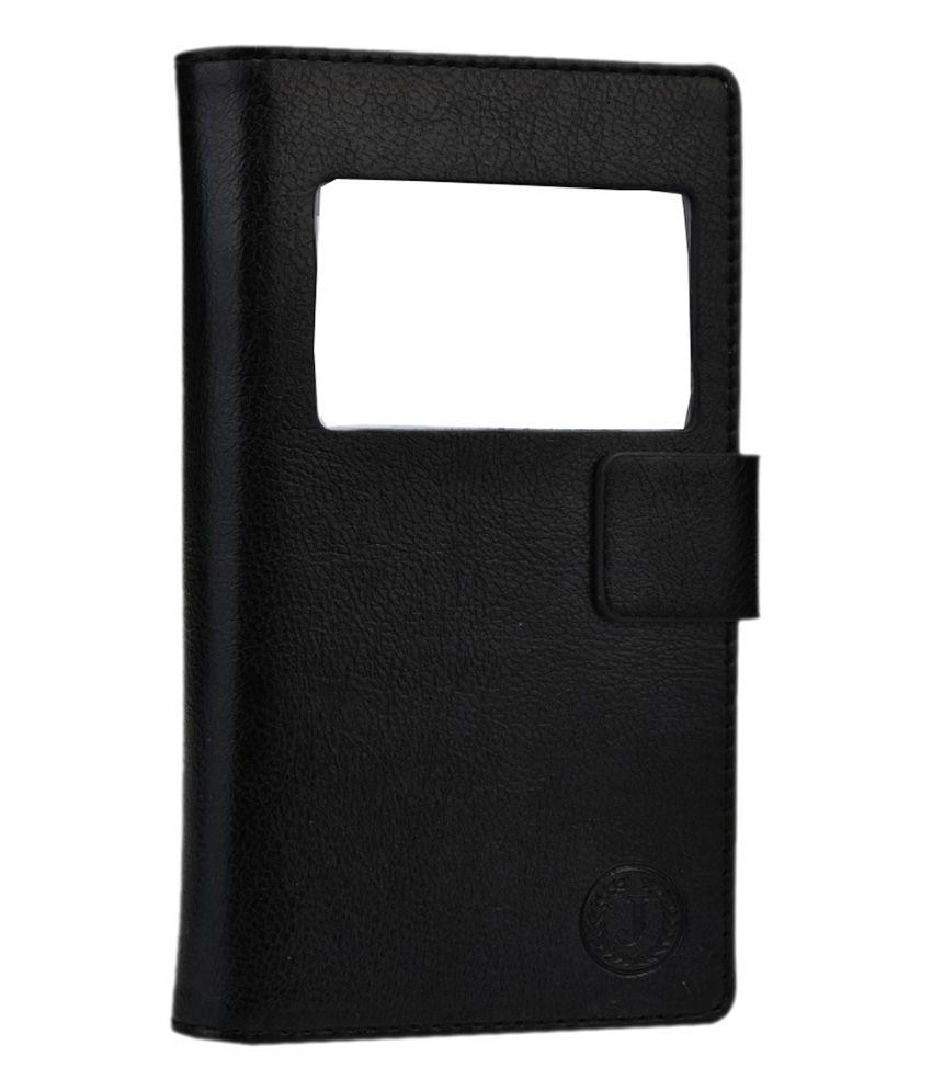 Jo Jo Cover Corbett Series Leather Pouch Flip Case for ZTE Grand X Quad V987 - Black