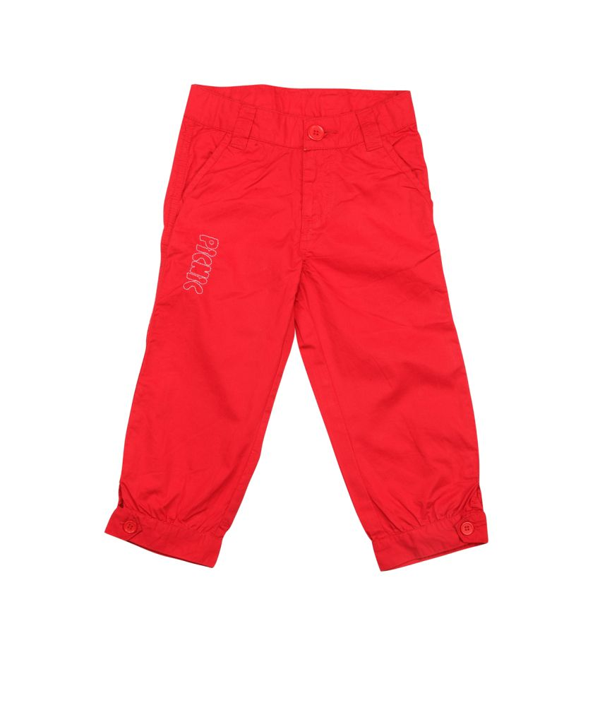Stop By Shoppers Stop Red Cotton Capris