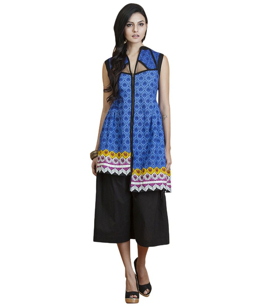 Yepme Blue Cotton Kurti