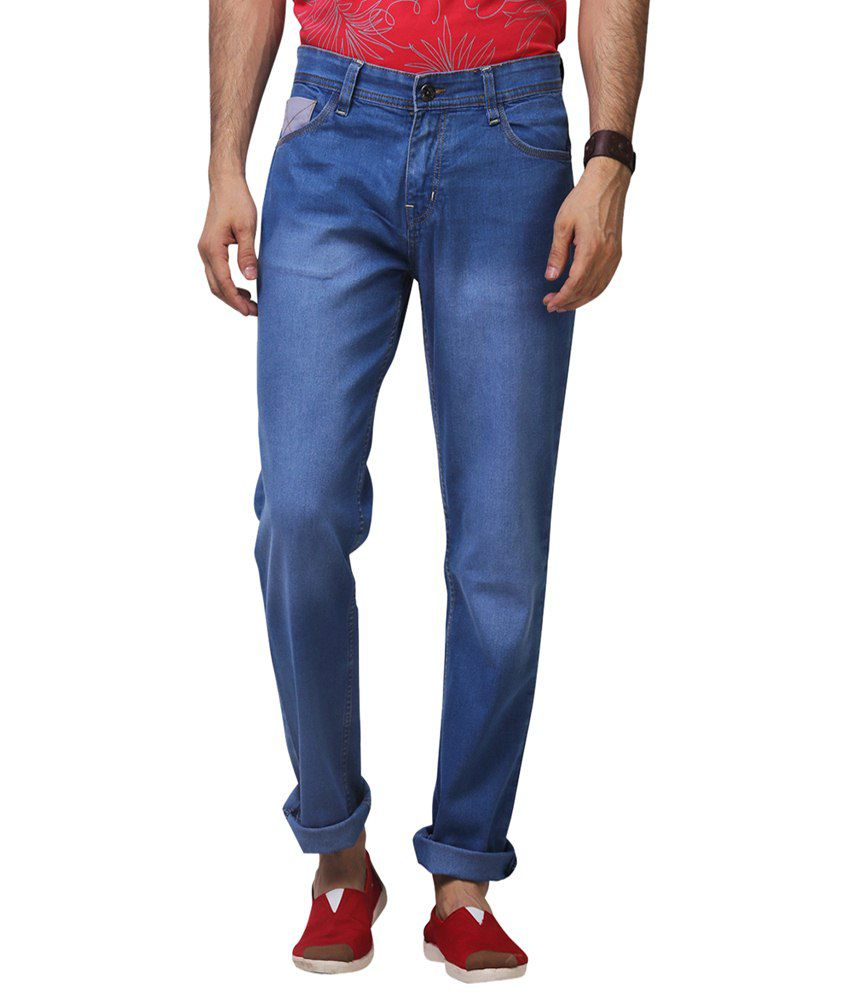 Yepme Gayle Blue Faded Regular Fit Denims for Men
