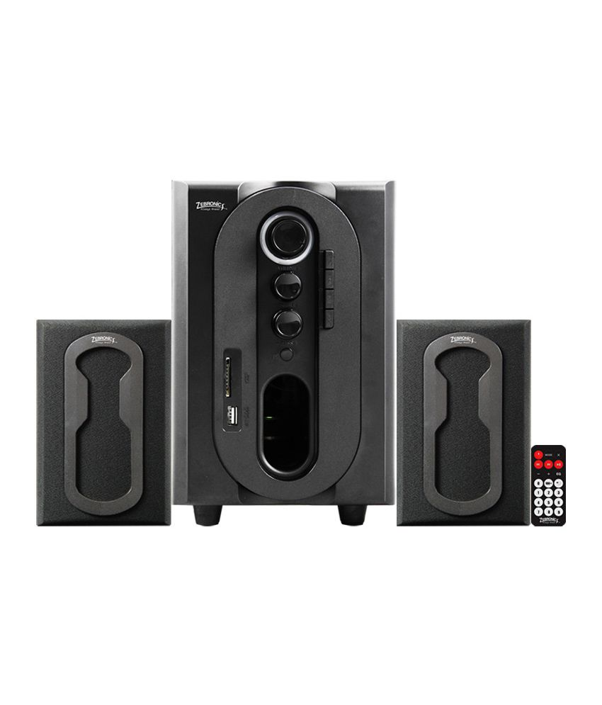 Zebronics Multimedia Speakers 2.1 Computer Speakers Black