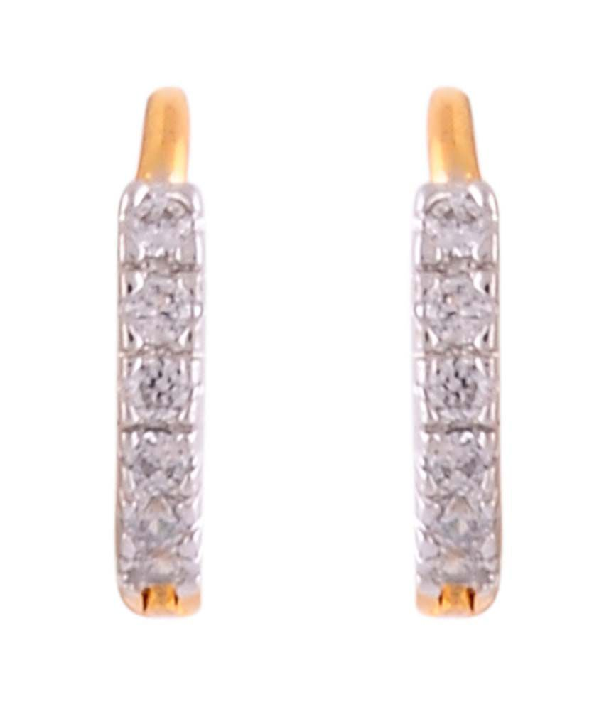 Affinity Jewellers Gold Gold Plated Alloy Designer Hoops|huggies|balis