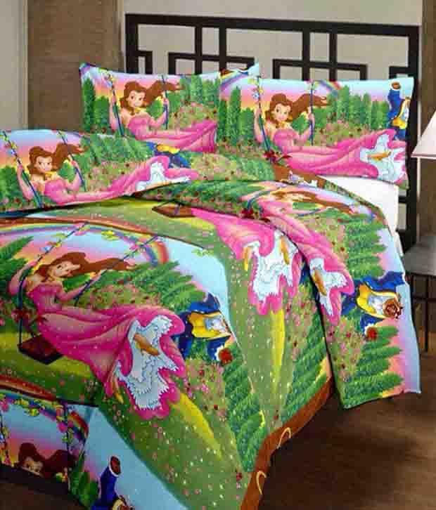 Renown Adorable Princess Printed Poly Cotton Single Bed AC Blanket / Dohar