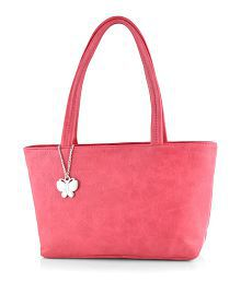 Butterflies Pink P.U. Shoulder Bag