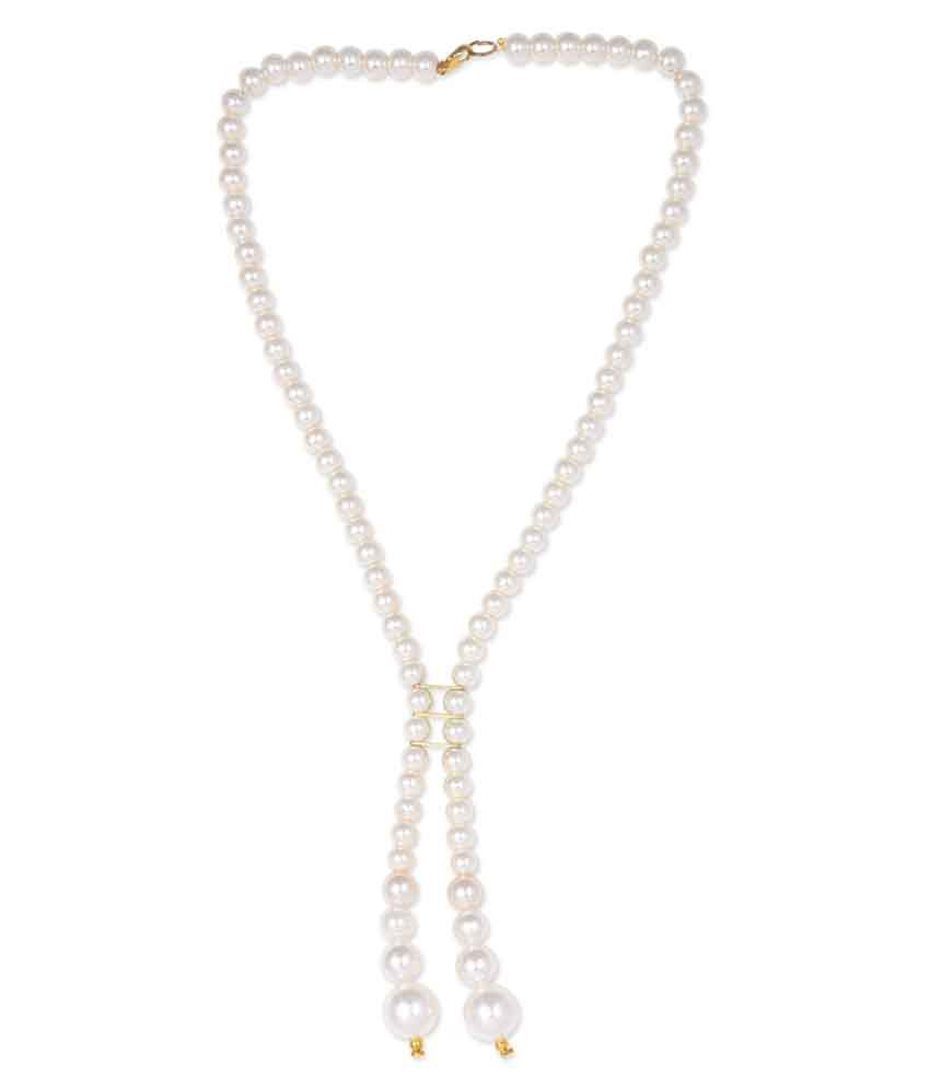 Uptown White Traditional Daily Wear Necklace