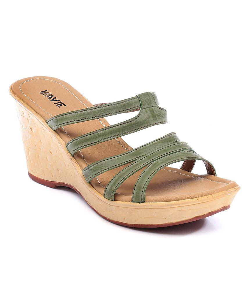 Lavie Green Wedge Heeled Slip-On