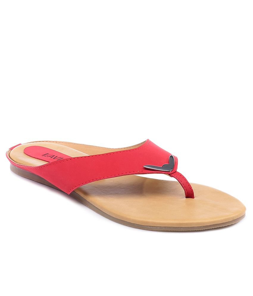 Lavie Red Flat Slip-On