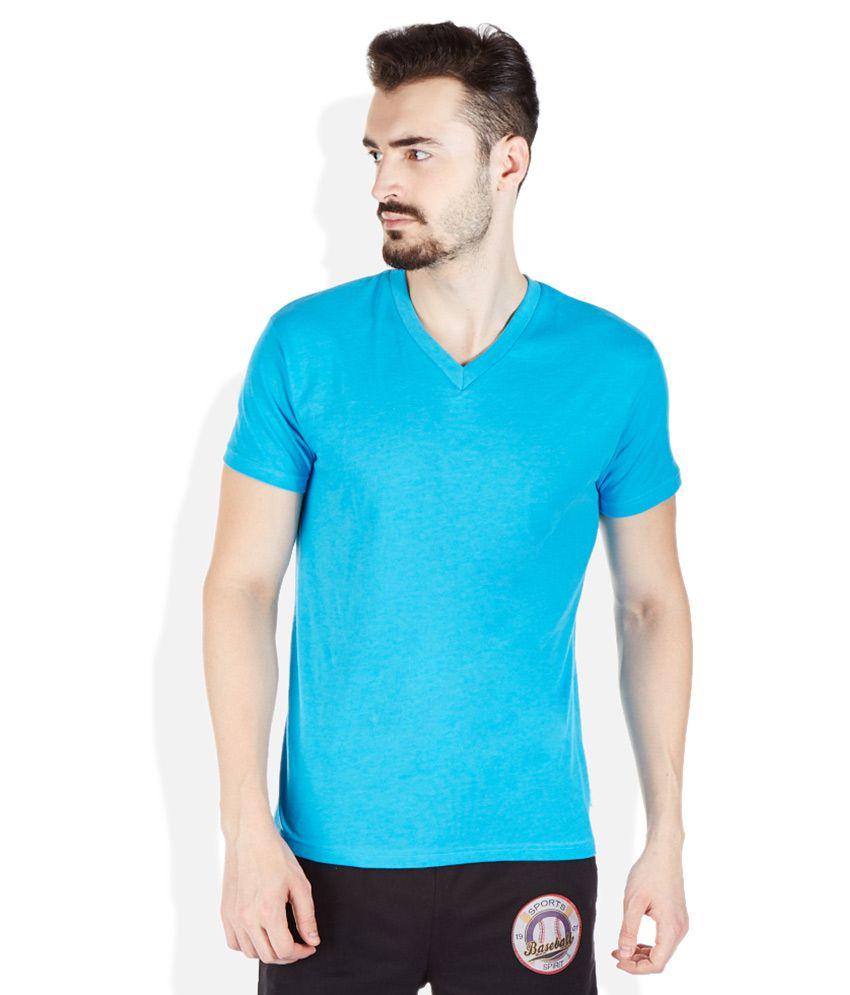 Hanes Blue V-Neck T Shirt