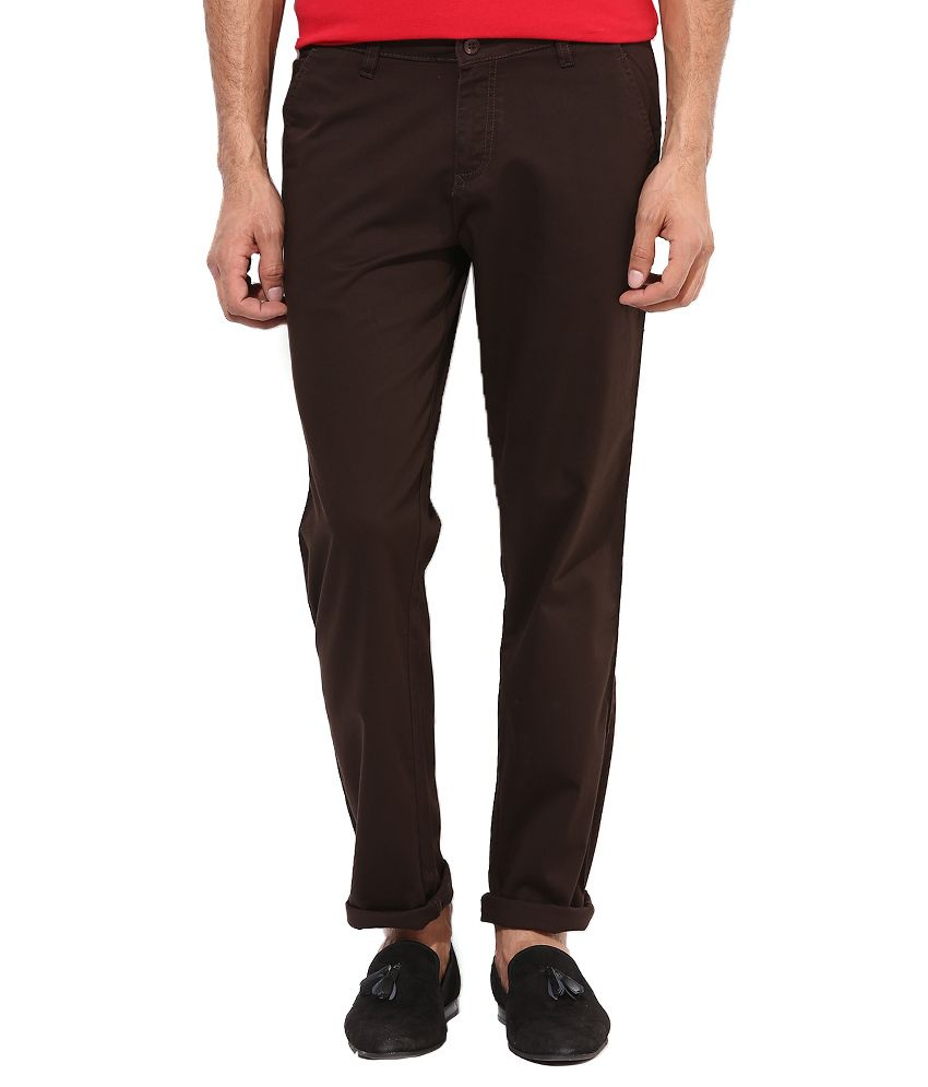 Monteil & Munero Coffee Cotton Blend Chinos