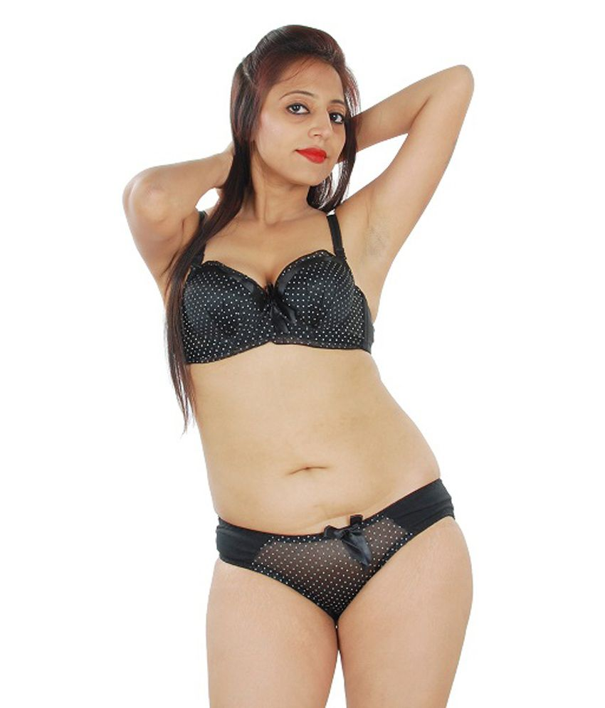 3a7303dfdba Buy Visible Black Bra   Panty Sets Online at Best Prices in India - Snapdeal