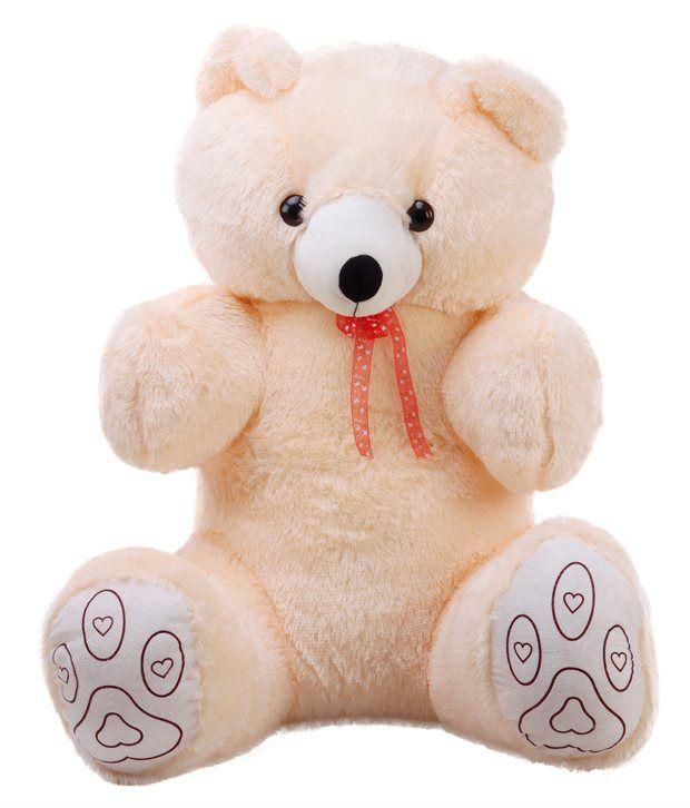 GRJ India 36 Inches Teddy bear stuffed love soft toy for boyfriend, girlfriend - Cream