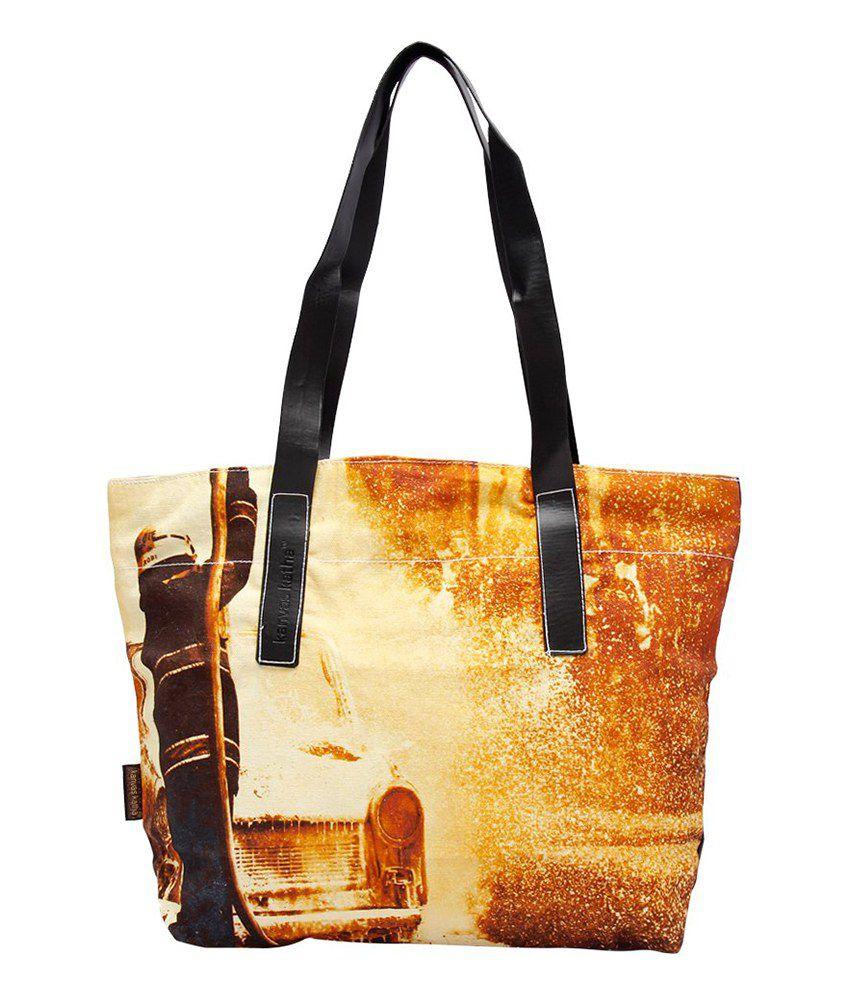 Kanvas Katha Multi Colour Tote Bags