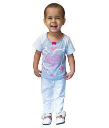 Instyle Grey Cotton Girl's Night Suit