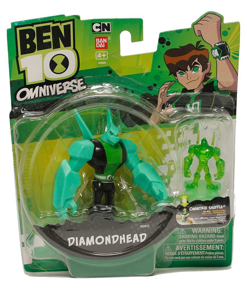 ben 10 diamond head with hour glass figure 4 inches buy ben 10