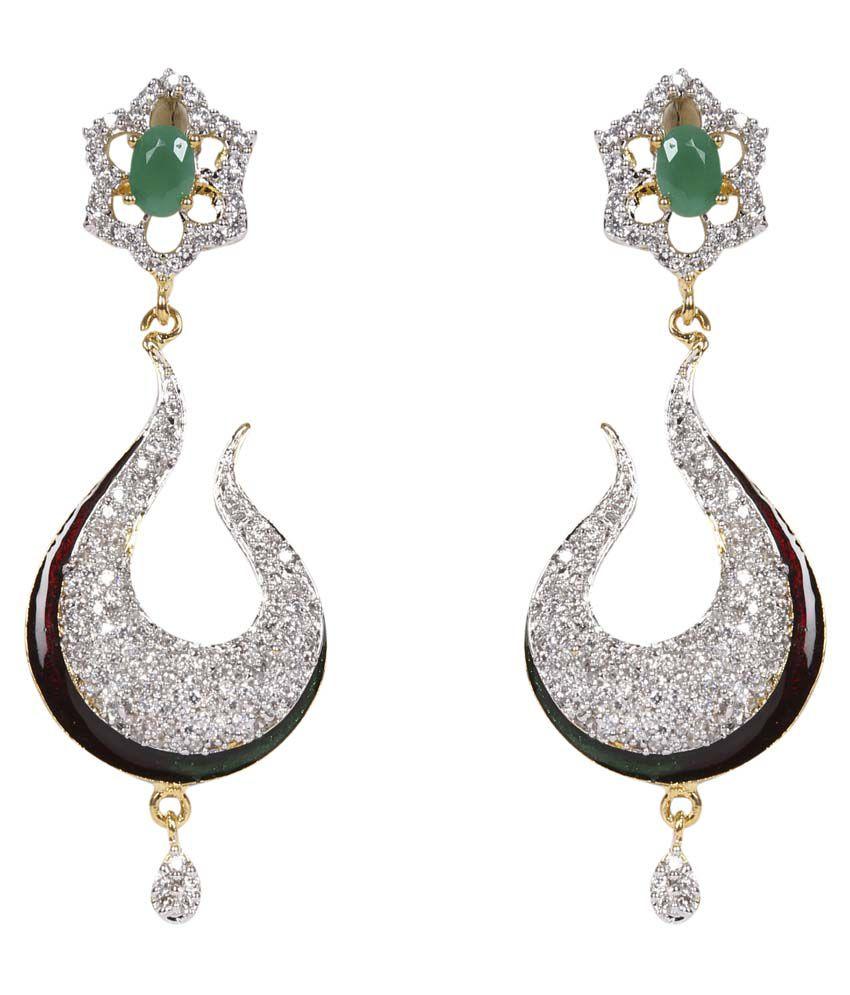 Esoft Stone Studded Fancy Earring