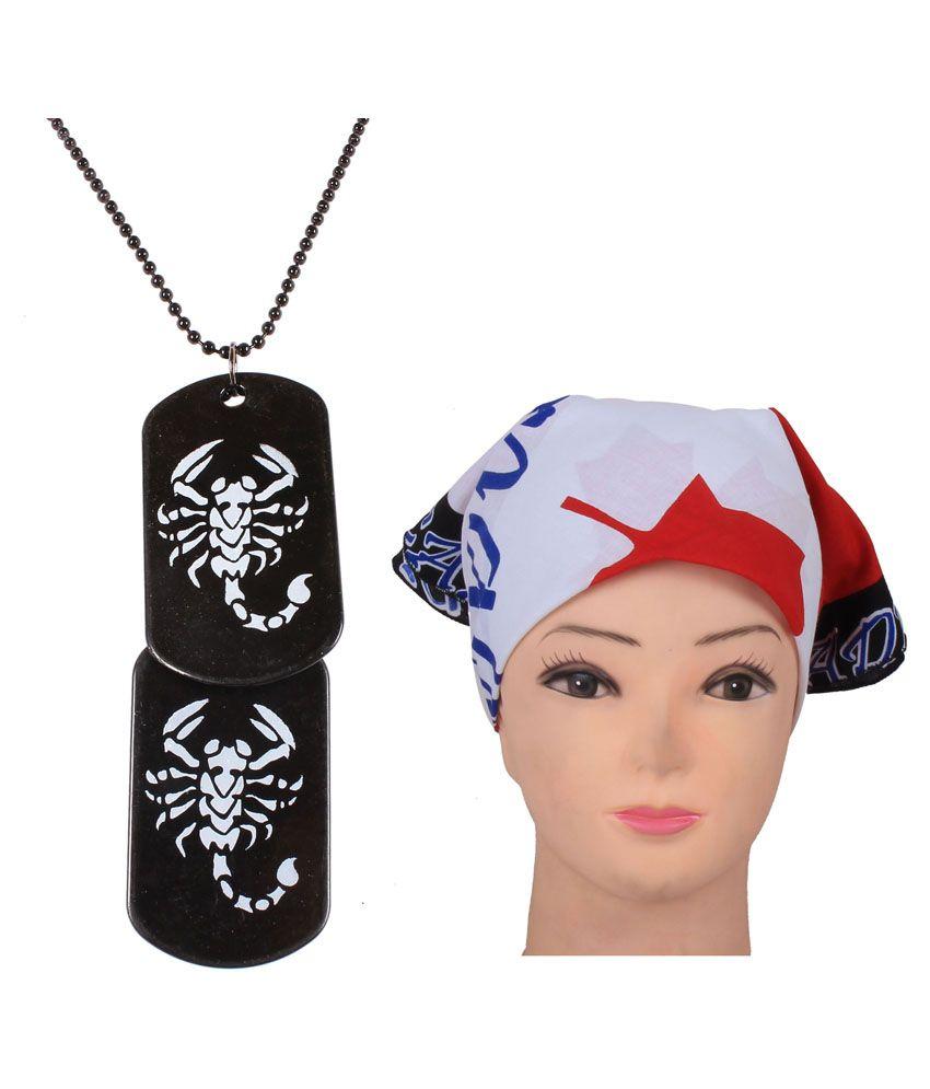 Jstarmart Scorpio Pendent Necklace Combo Headwrap