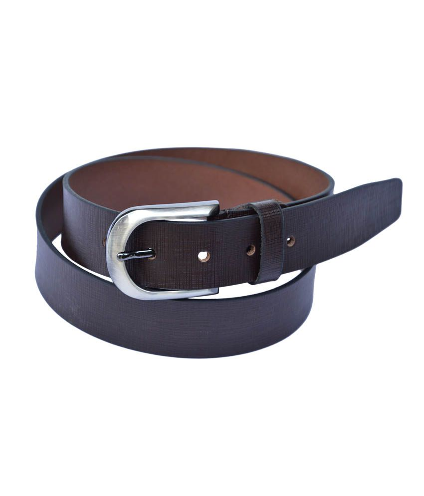 Manshkhino Brown Leather Pin Buckle Formal Belt