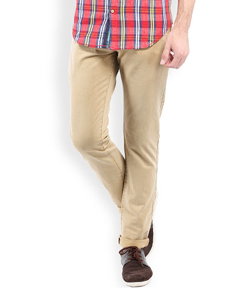 Vintage Khaki Slim Fit Casuals