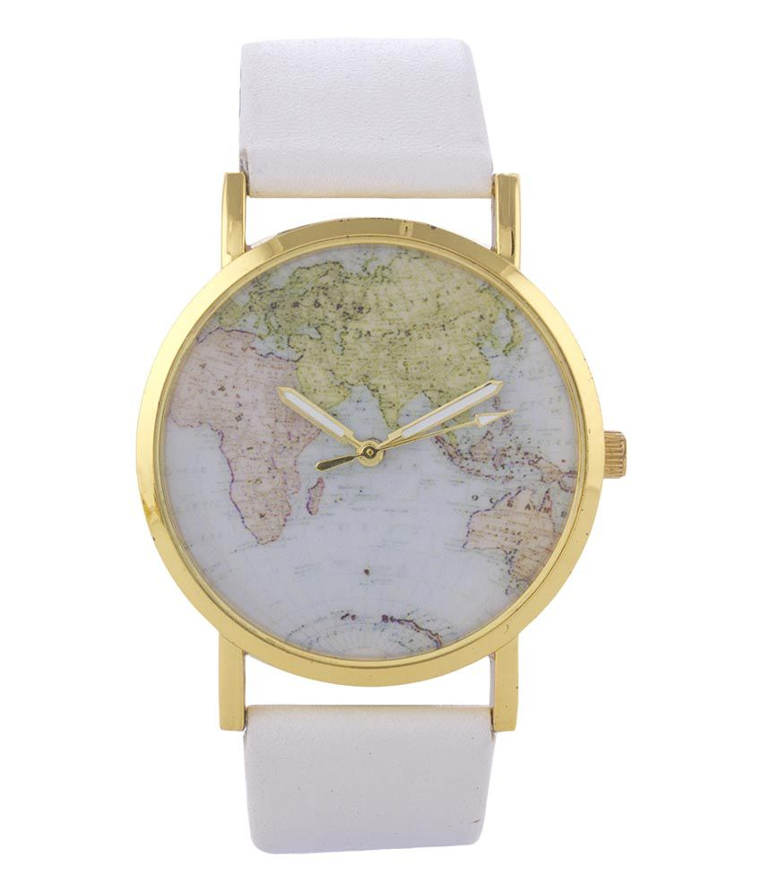 Fever 21 white world map watch price in india buy fever 21 white fever 21 white world map watch gumiabroncs Choice Image