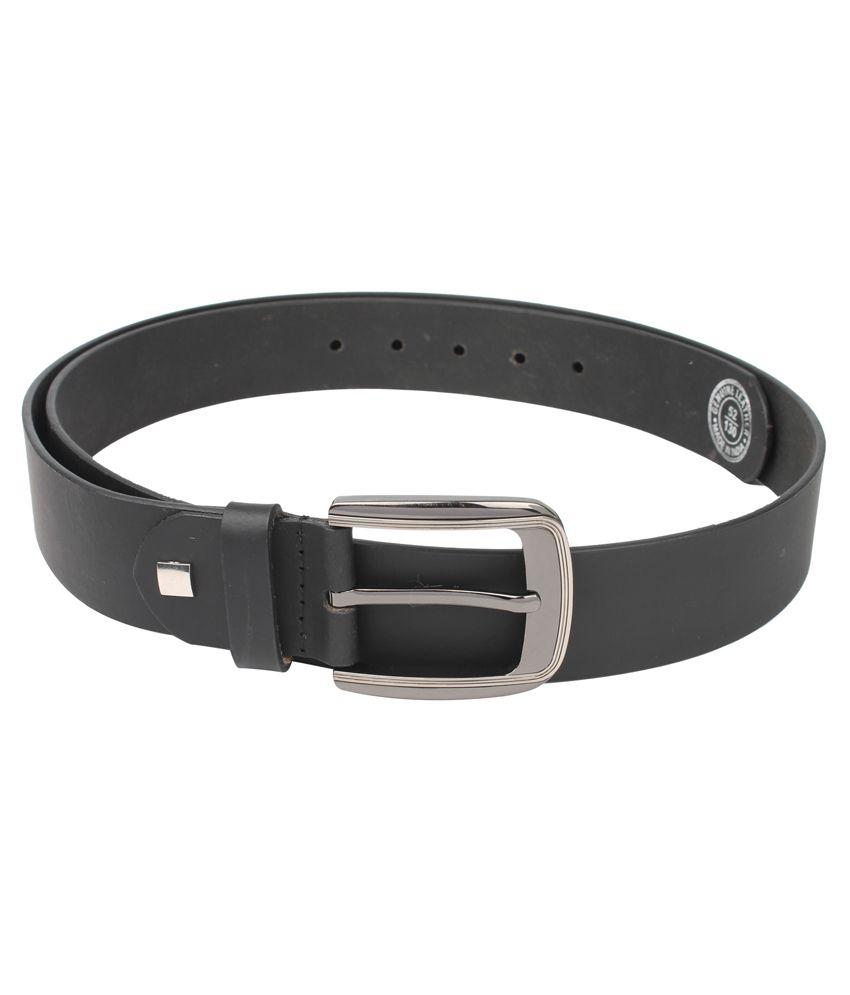UMDA Men's Black 100% Pure Leather Belt