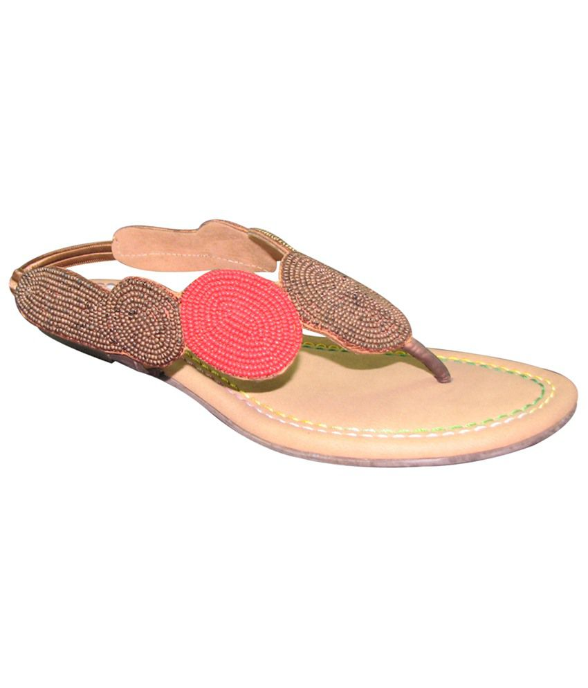 Faith Brown Flat Sandals