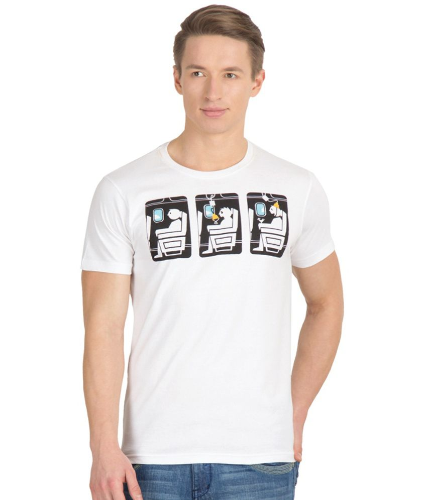 Gabi White Cotton T-shirt