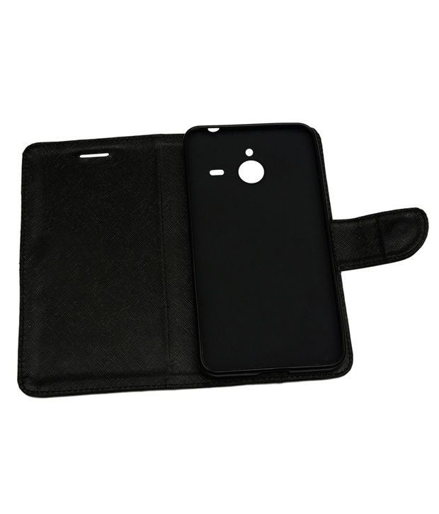check out 55858 4aa90 encase Synthetic Flip Cover For Microsoft Lumia 640 Xl Black