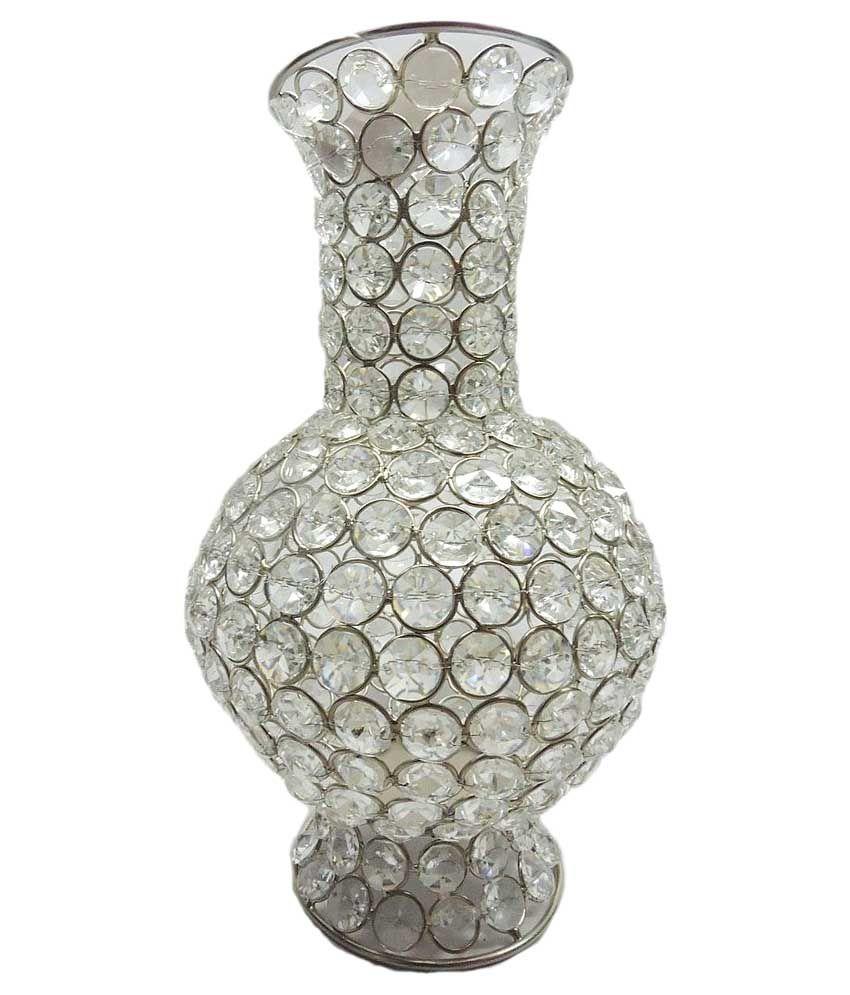 Brass gift center white crystal bead long flower vase buy brass brass gift center white crystal bead long flower vase reviewsmspy