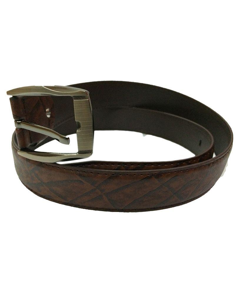 KP Belts Brown Pin Buckle Casual Belt