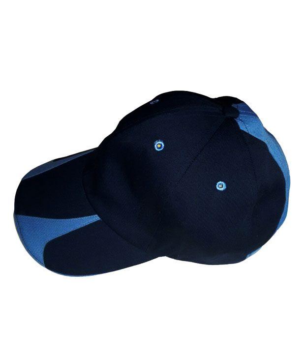 Navex Black Cotton Tennis Cap For Men