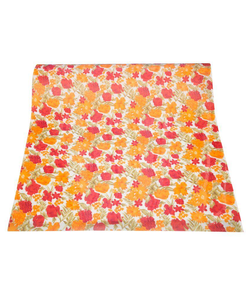 A1 Fiber Glass Emporium P P Sheet Red And Orange Flower